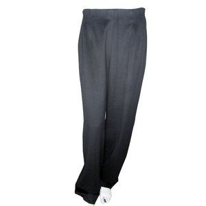 MaxMara Black Virgin Wool Pants Size 10